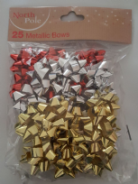 Pack 25 Metallic Bows